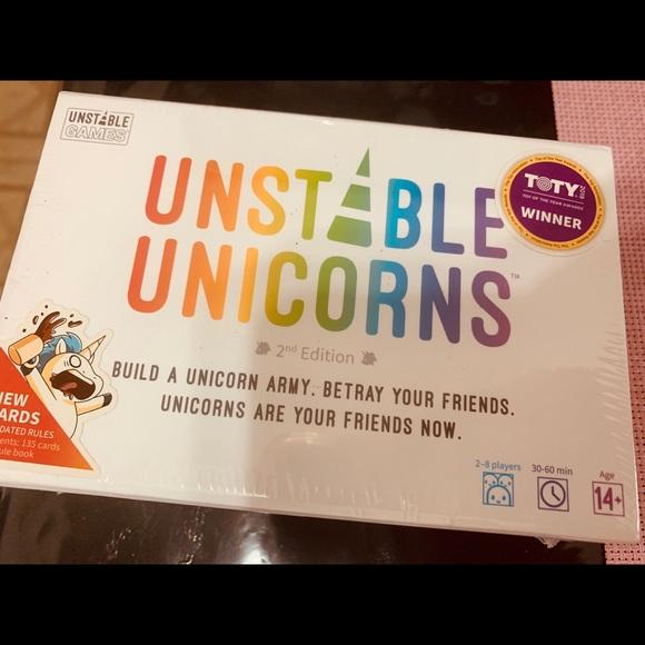 Unstable Unicorns card game new in box fun gift it